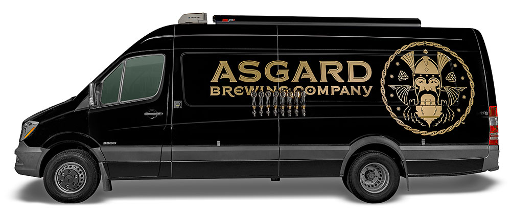 Van for off-site Asgard events